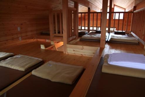 ファイヤーサイドコテージ2階ロフトの寝室