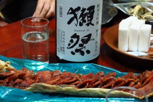 岩倉鉱泉宴会場の酒と肴