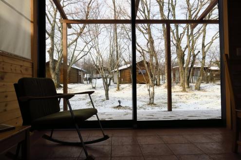 北軽SGトントゥの庭 雪景色
