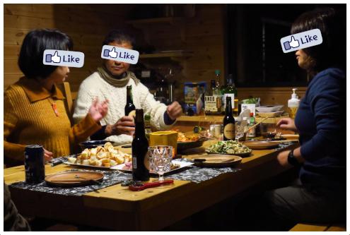 北軽SGトントゥの庭 食卓