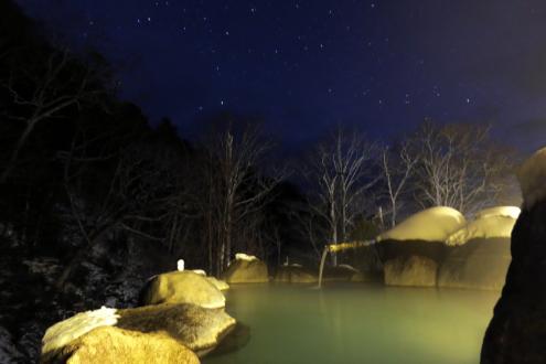 手白澤温泉の露天風呂
