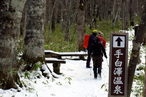 手白澤温泉の山道