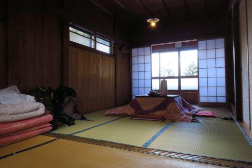 日光澤温泉囲炉裏部屋真上の2階角部屋