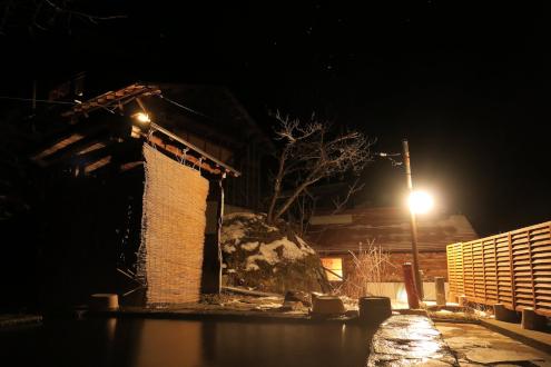 日光澤温泉の露天風呂