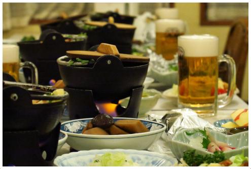 稲子湯の晩ごはん