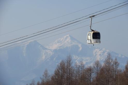 ゴンドラと磐梯山