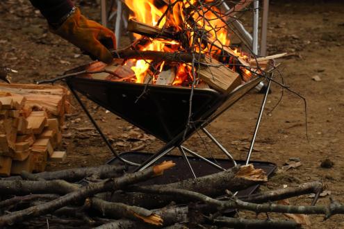 筑波ふれあいの里キャンプ場 焚き火