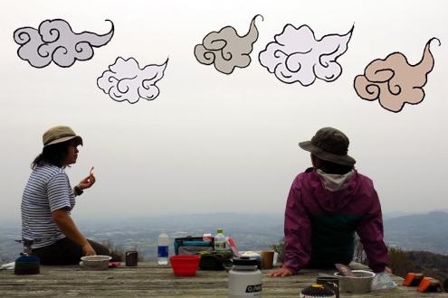 筑波高原キャンプ場にて山めし