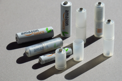 単4形電池を単3形電池に変換できるアダプター