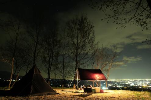 くりの木キャンプ場 W5サイト夜景