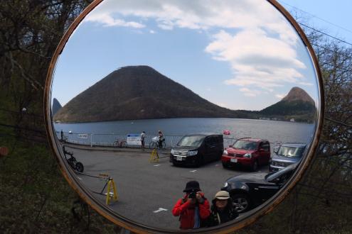 榛名富士と榛名湖