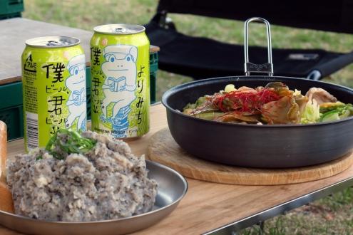 豚肉とキャベツのザーサイ鍋&黒ごまポテトサラダ