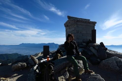 甲斐駒ヶ岳山頂
