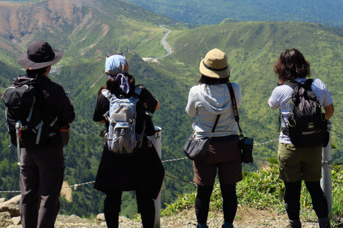 横手山の山頂にて