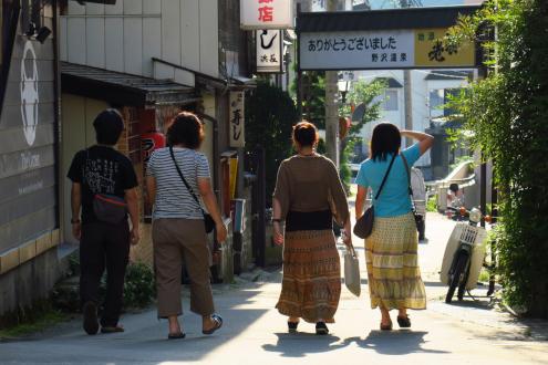 野沢温泉散策