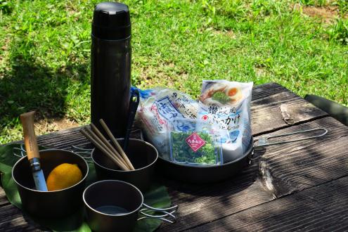 流水レモン素麺の準備