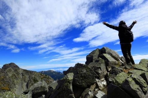 涸沢岳までの登山道