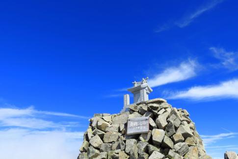 穂高連峰最高峰 奥穂高岳 山頂