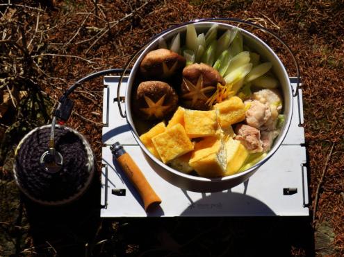 栃尾の油揚げの鶏鍋