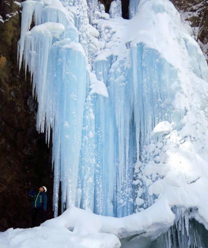 奥日光庵滝の氷瀑