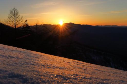金峰山から日の出