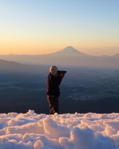 克ちゃんと富士山