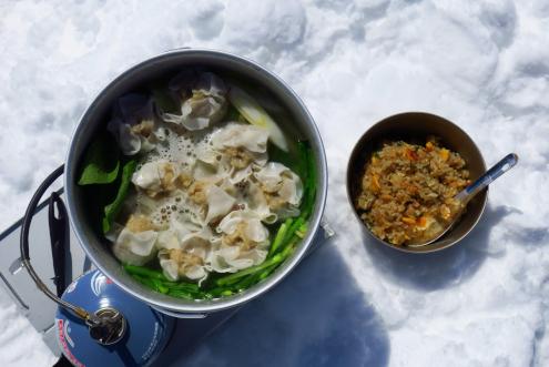 シュウマイ鍋とチャーハン