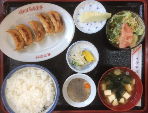 香港栄華の餃子ライス