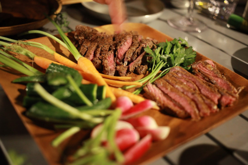 燻製ステーキの盛合せ