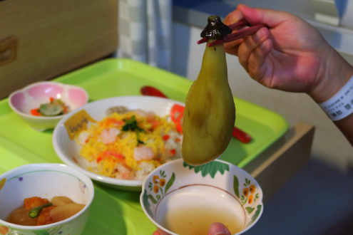 ちらし寿司と焼きナス