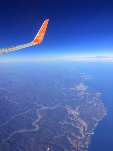 食い倒れ韓国旅行 機上