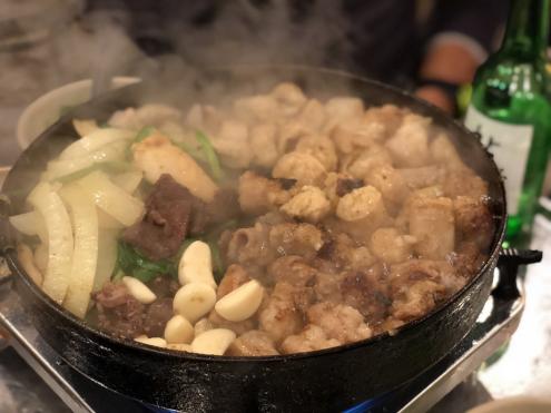 食い倒れ韓国旅行 ホルモン焼き