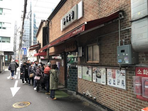 食い倒れ韓国旅行 朝から行列