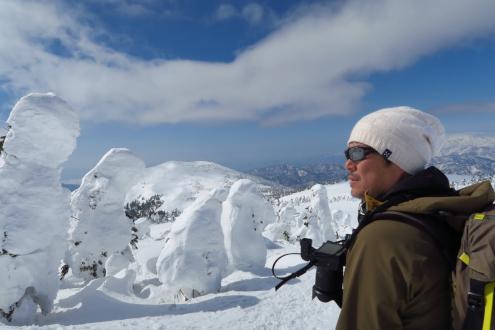 西吾妻山の樹氷とオレ