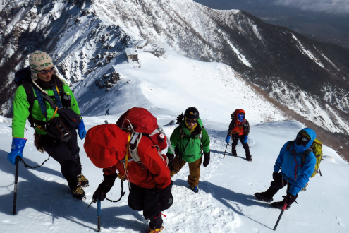 雪の赤岳登山