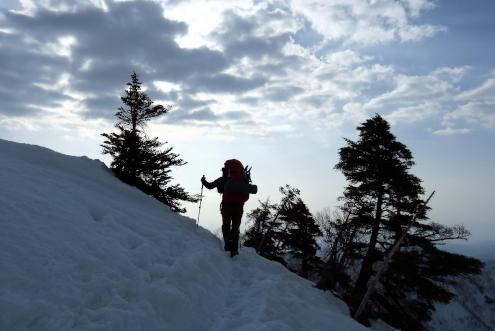 中遠見山からの下山中
