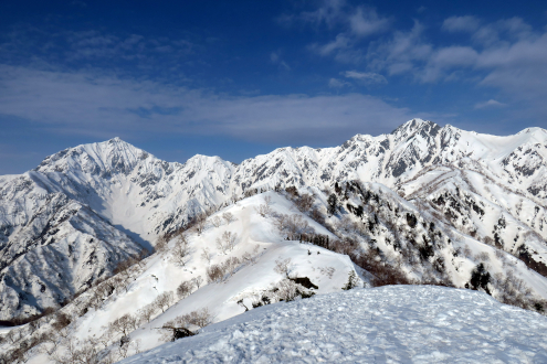 鹿島槍ヶ岳と五竜岳と遠見尾根