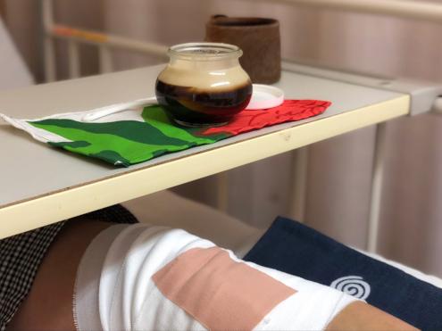 福田さんのコーヒーゼリーwith病院
