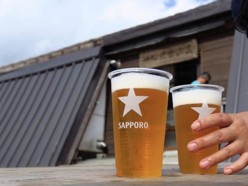 北岳山荘の生ビール