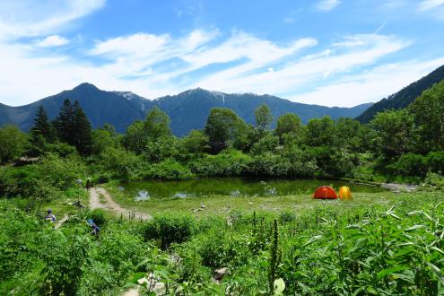 白根御池と鳳凰三山
