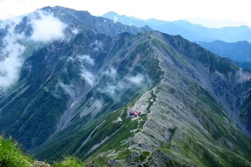 北岳山頂直下