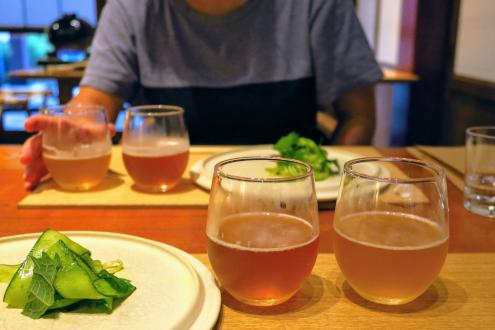 里山十帖 パスタとビール各種