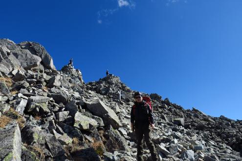 奥穂高岳山頂直下