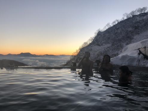 白馬鑓温泉朝風呂