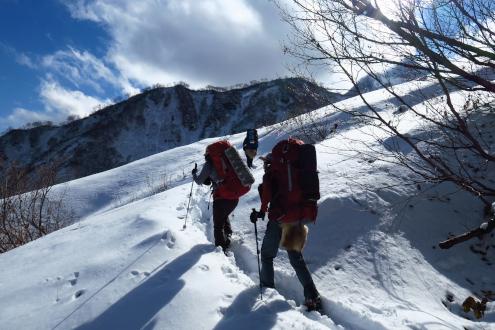 白馬鑓温泉登山道