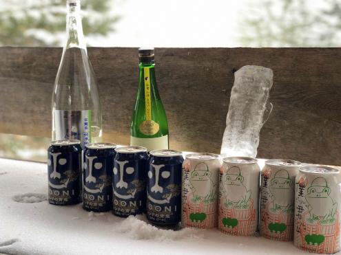 ビール冷却中