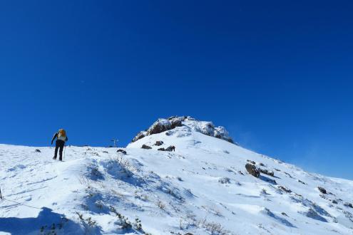 安達太良山 山頂直下