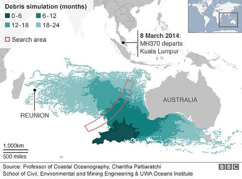 マレーシア航空機MH370便の残骸がレユニオン島に漂着していた