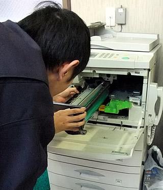 SHARPコピー機の修理をご依頼のお客様に行ってきました