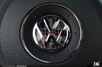 VW GOLF6 GTI ステアリング インレイ